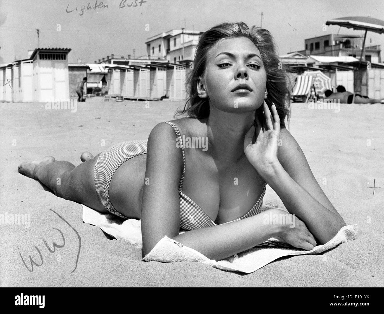 ALICIA BRANDET Italian actress, played mainly in seaside resort Italian comedies. - Stock Image