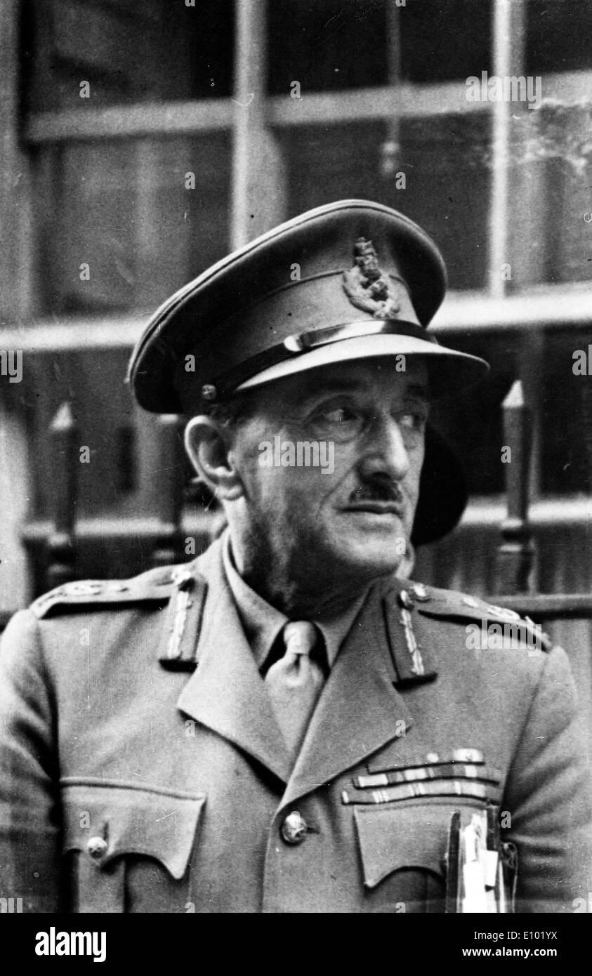Field Marshal ALAN BROOKE - Stock Image