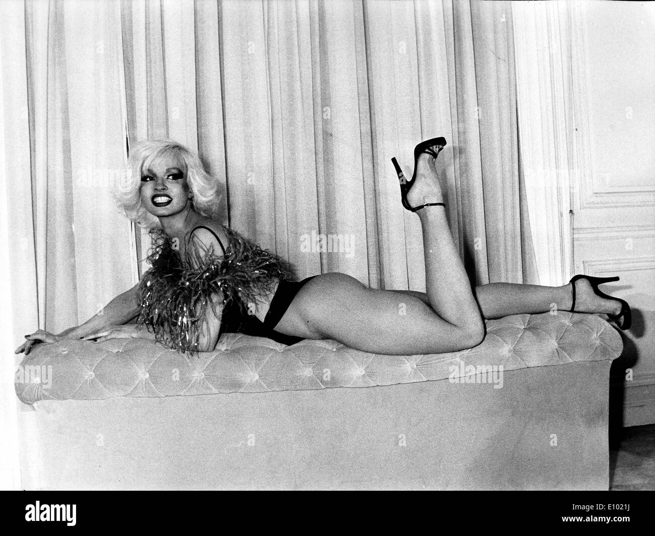 Zina Beluga, dancer at the Crazy Horse Saloon - Stock Image