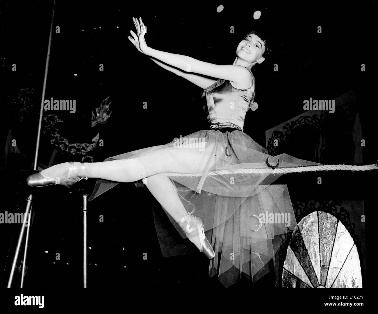 LESLIE CARON French film actress and dancer. - Stock Image