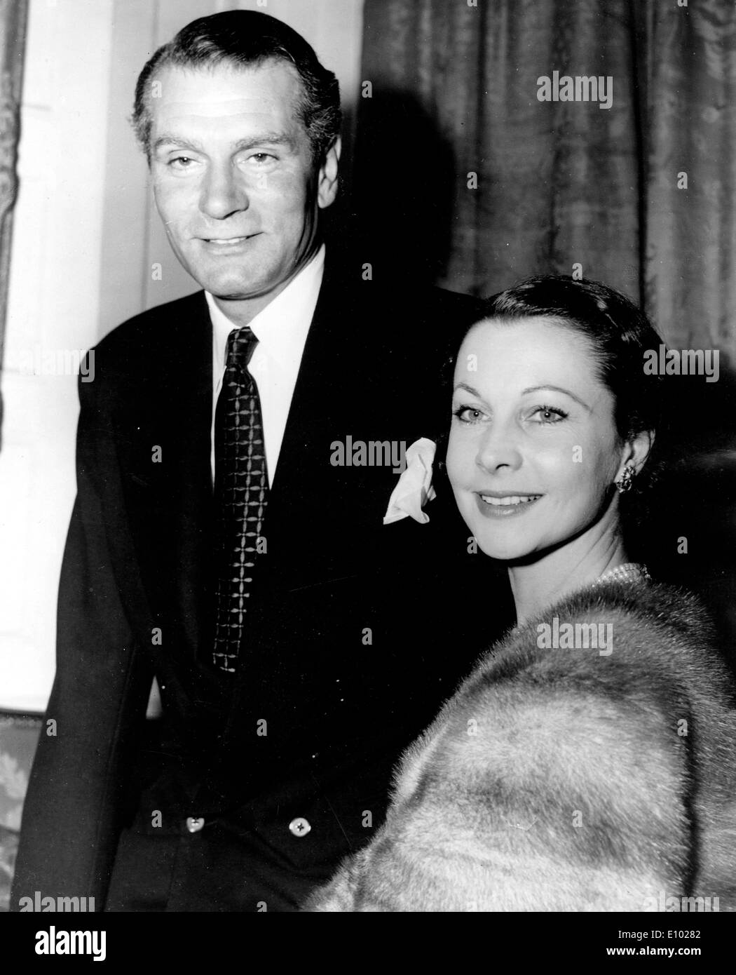 Actors Laurence Olivier and Vivien Leigh - Stock Image