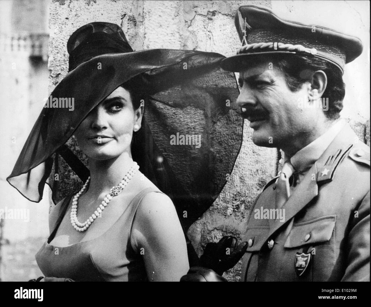 Marcello Mastroianni and Marisa Mell co-star - Stock Image