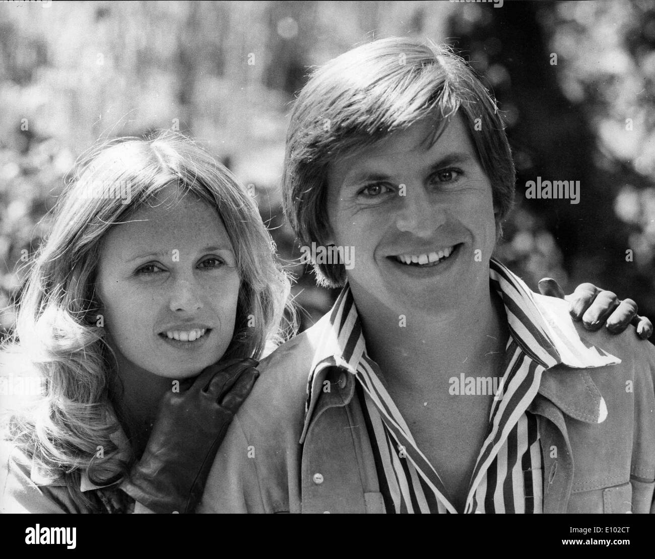 ALAN PRICE is an English musician, best known as the original keyboardist for  British band The Animals. Actress Jill Townsend. - Stock Image