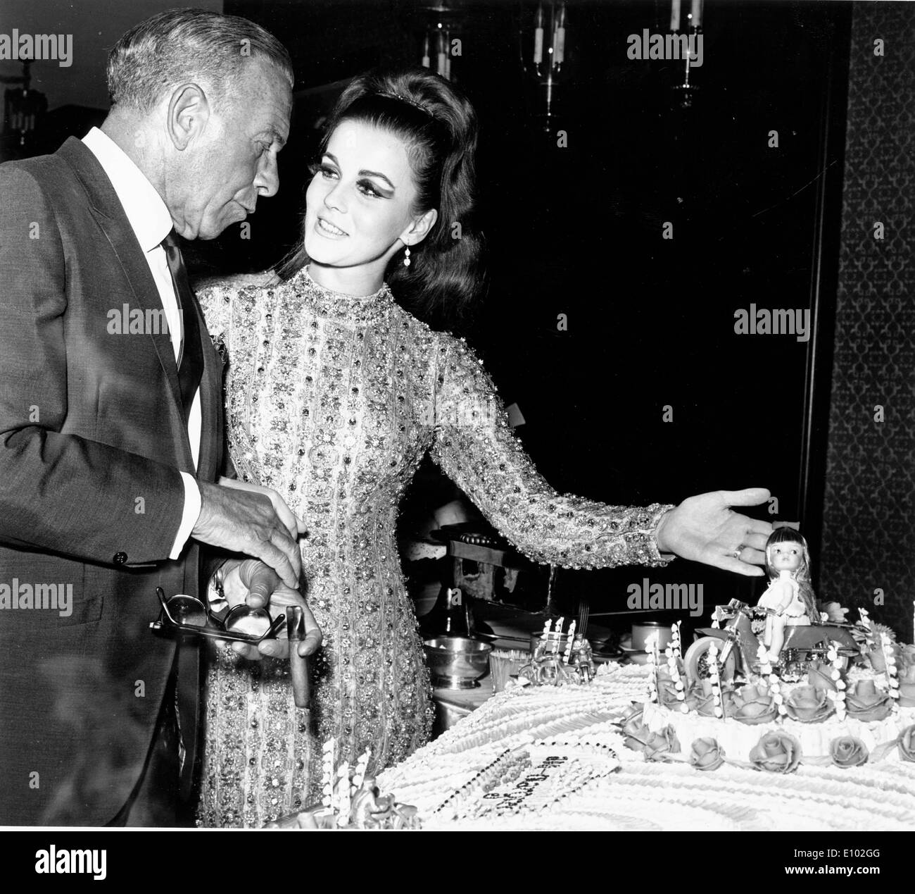 Actress Ann-Margret at party with guest - Stock Image