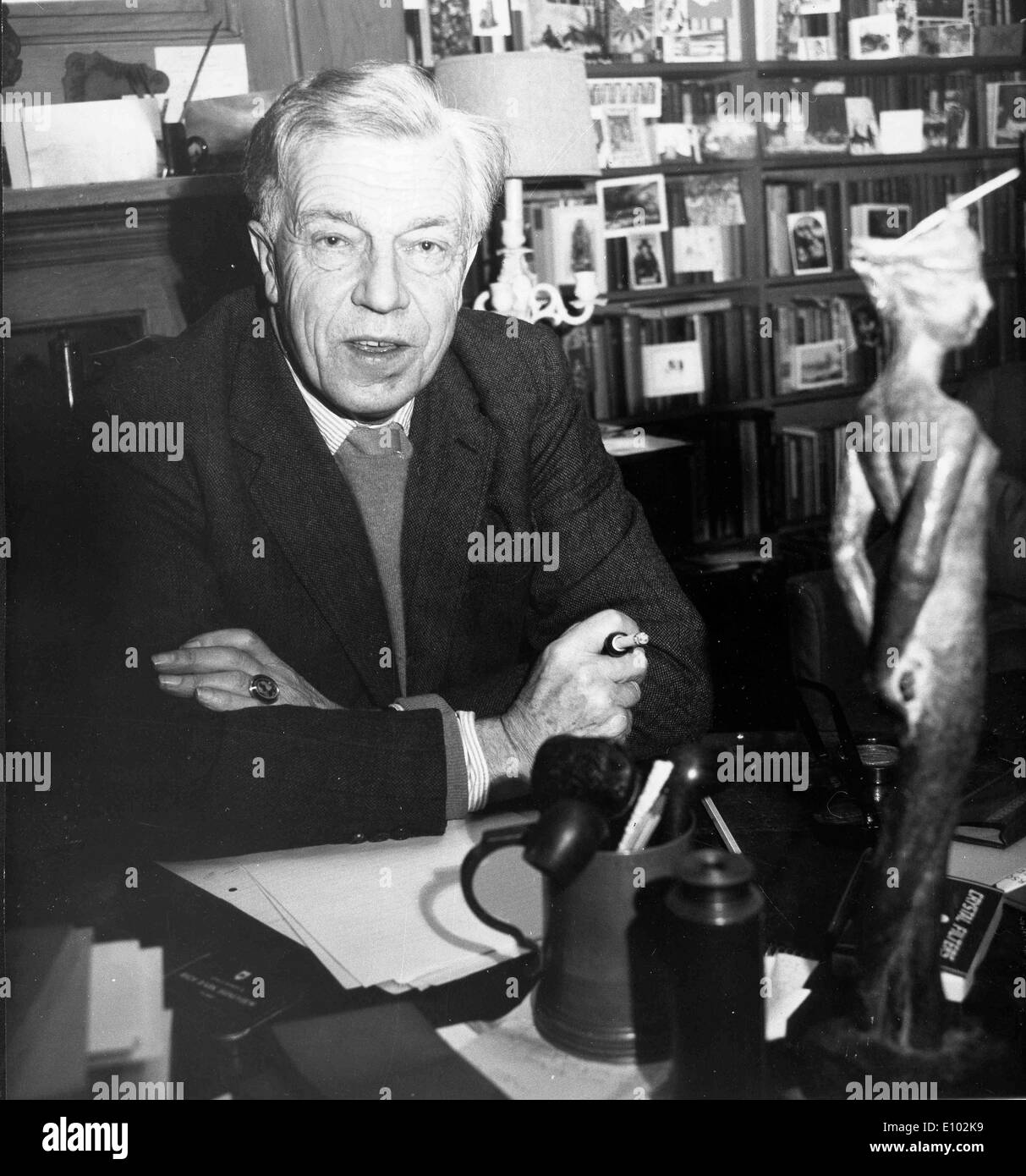 Writer Cecil Day-Lewis in his study - Stock Image