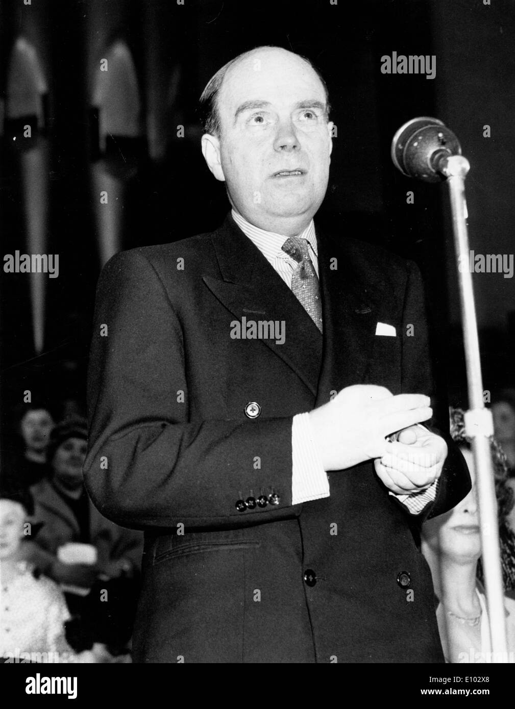 Politician Iain Macleod gives speech at event - Stock Image