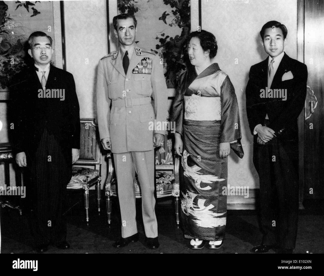 royal family of iran mohammad reza shah pahlavi stock photo