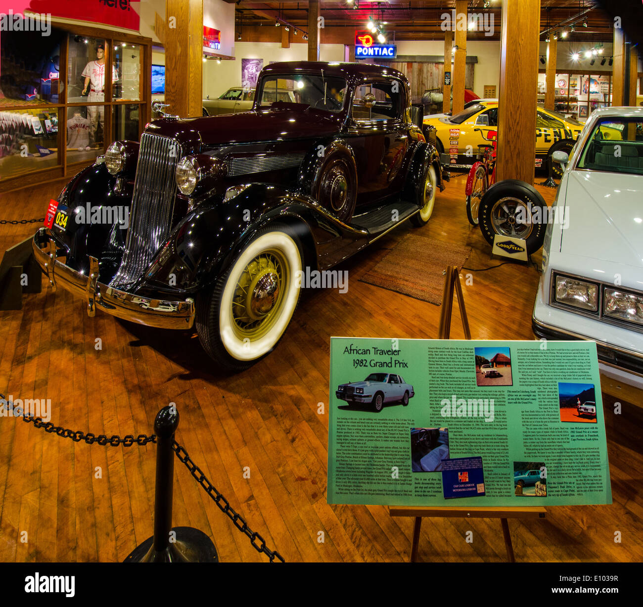 The Pontiac-Oakland Museum in Pontiac, Illinois, a town along Route 66 - Stock Image
