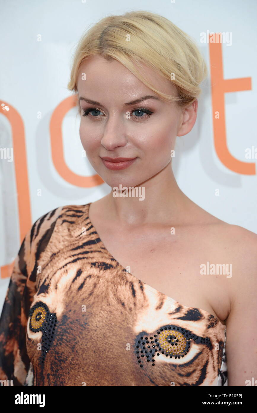 London, UK. 20th May 2014. K-9 Angels 'Pola Pospieszalska' and Guests attends Save Wild Tigers Dinner at - Stock Image