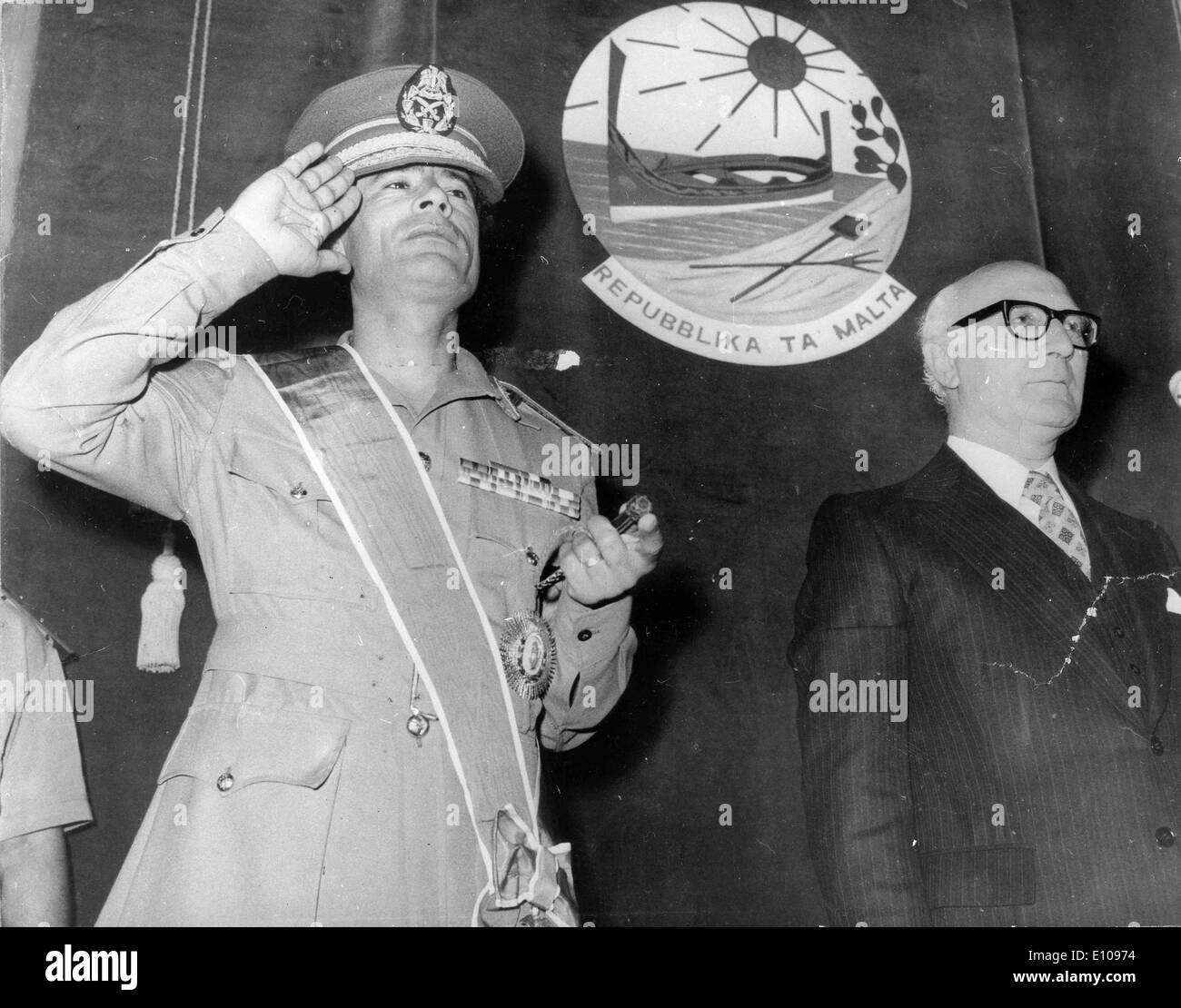 MUAMMAR AL-GADDAFI (born c. 1942) has been the de facto leader of Libya since 1969. - Stock Image