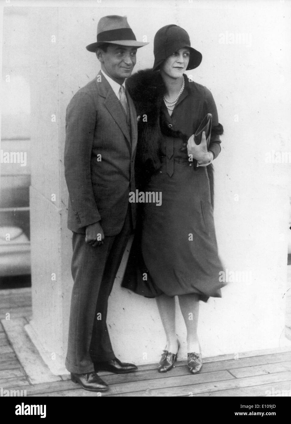 Composer Irving Berlin with wife Ellin Mackay - Stock Image