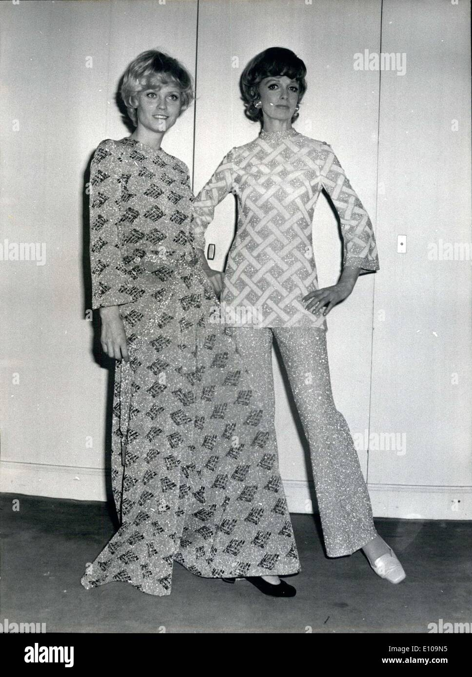 90d1800a 16, 1970 - Pierre Balmain Models Wearing His Fall Designs - Stock Image