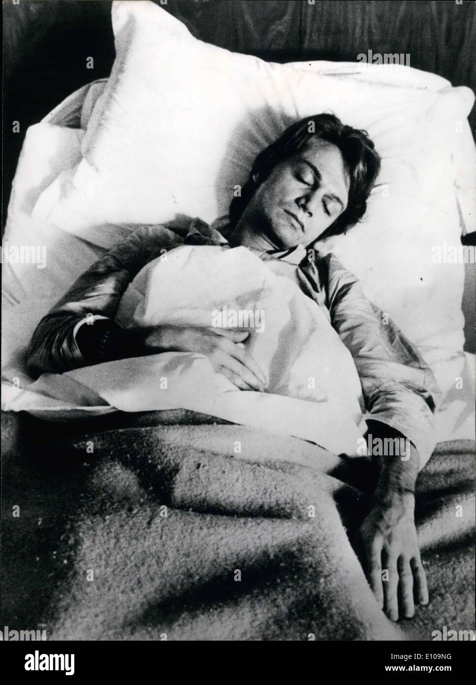 Mar. 18, 1970 - He fainted during a recital and was flown in an ambulance to a Parisian clinic.  Pictur - Stock Image