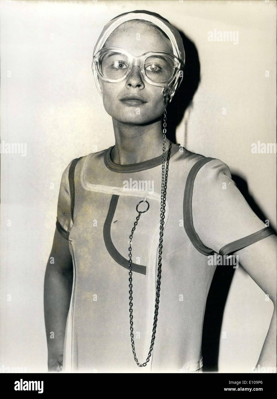 Mar. 23, 1970 - A new fashion accessory for your glasses by Louis Feraud - Stock Image