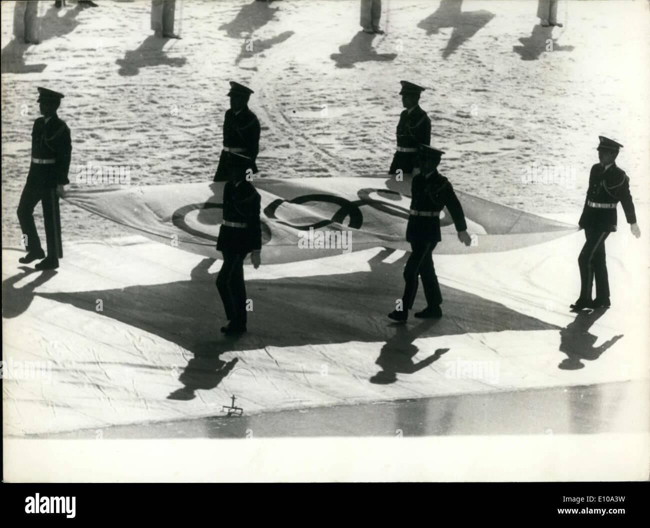 Feb. 14, 1972 - Opening Ceremonies of the Sapporo Olympic Games in Japan - Stock Image