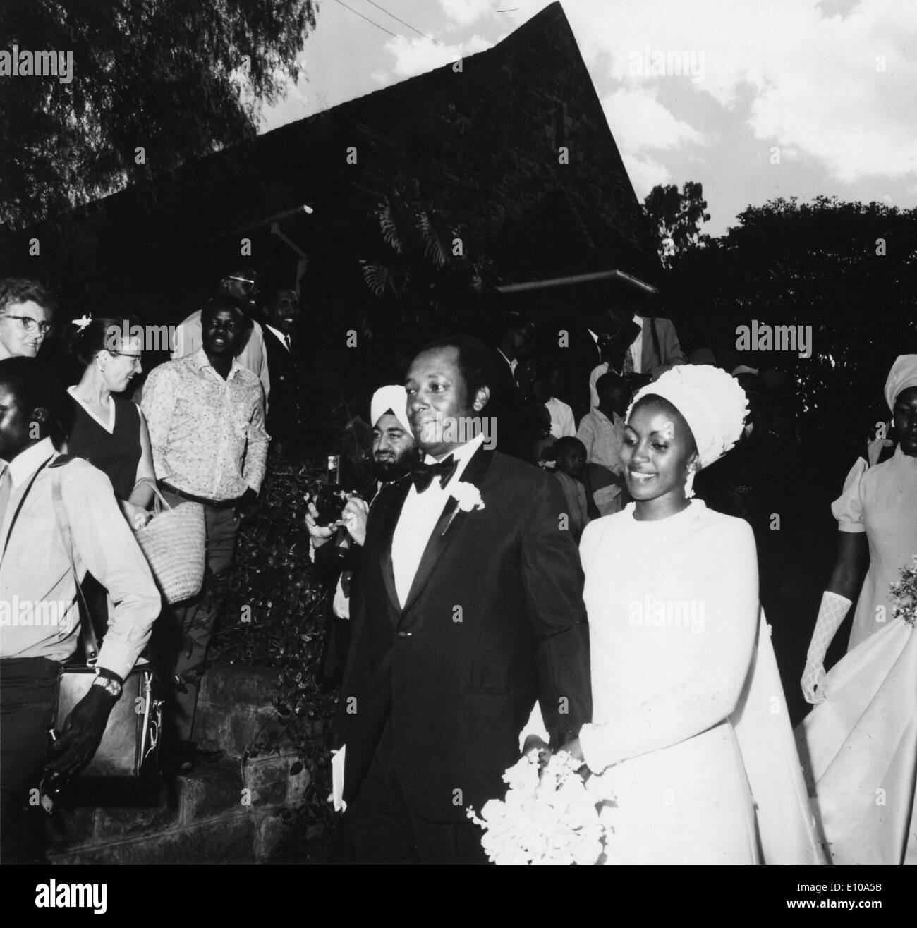 May 22, 1972 - Nairobi, Kenya - Dr. NJOROGE MUNGAI weds Miss LILIAN NJERI NJENGA at the St. Andrew's Church, the Stock Photo