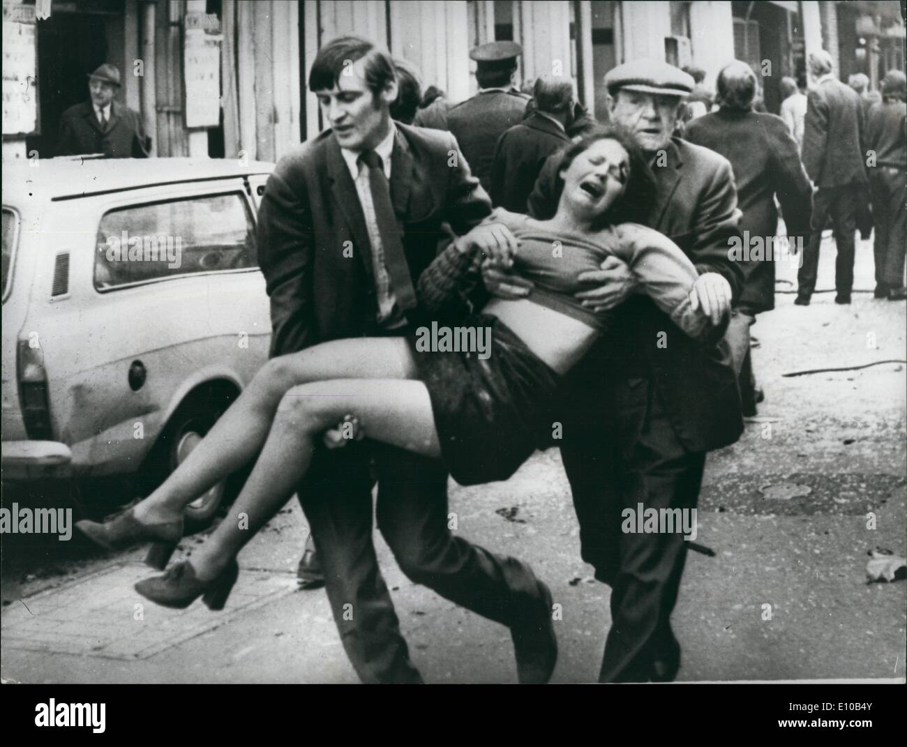 Mar. 03, 1972 - 6 Killed And 146 Injured In Bomb Explosion In Belfast: Six people were killed and 146 injured by - Stock Image