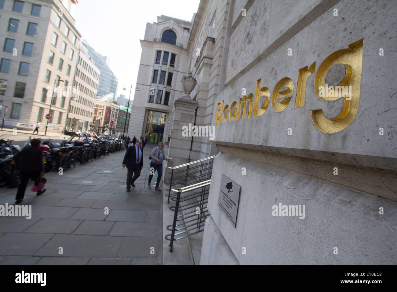 Bloomberg building Headquarters London - Stock Image
