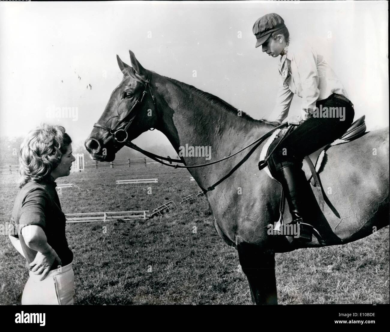 Mar. 03, 1972 - Princess Anne Schooling Her Horses In Preparation For The Tough Season Ahead: Princess Anne, the Stock Photo