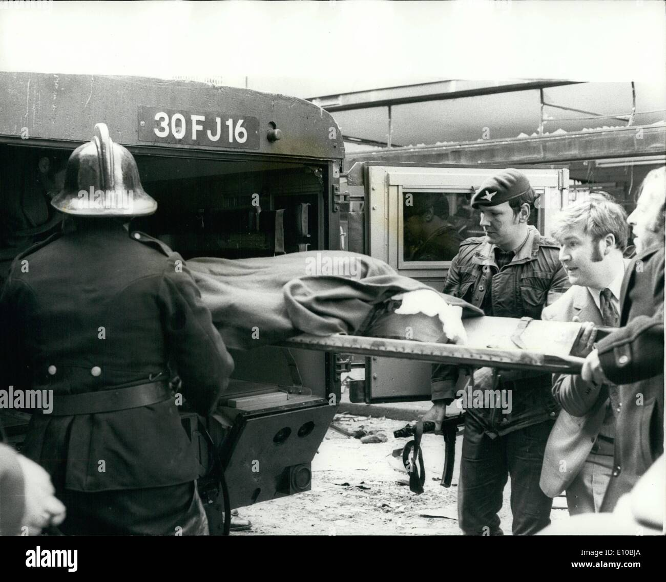 Mar. 03, 1972 - 6 KILLED AND 146 INJURED IN BOMB EXPLOSION IN BELFAST. Six people were killed and 146 injured by - Stock Image