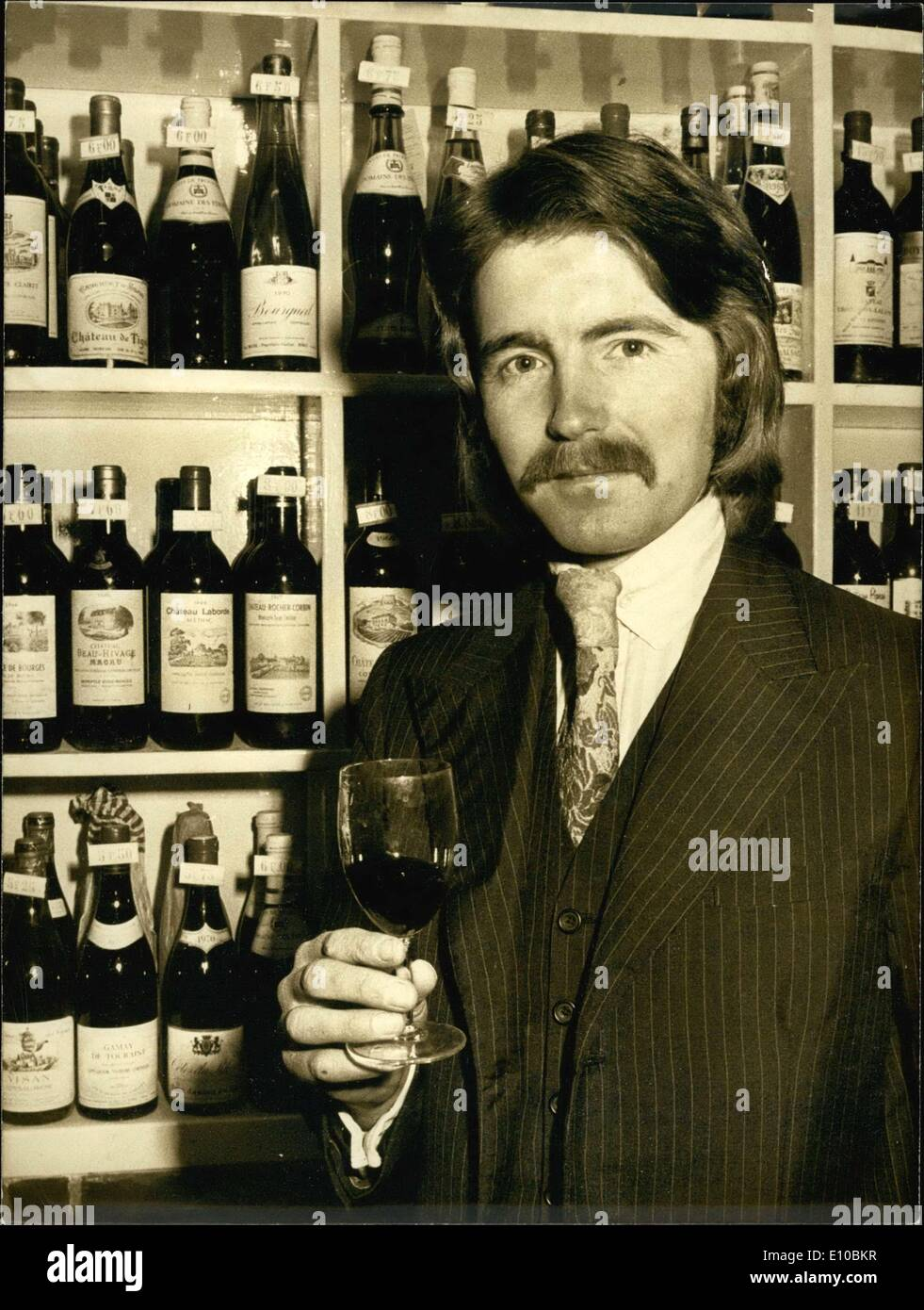 Mar. 07, 1972 - It is not impossible to find a Frenchman selling whiskey in London, but the French find it funny Stock Photo