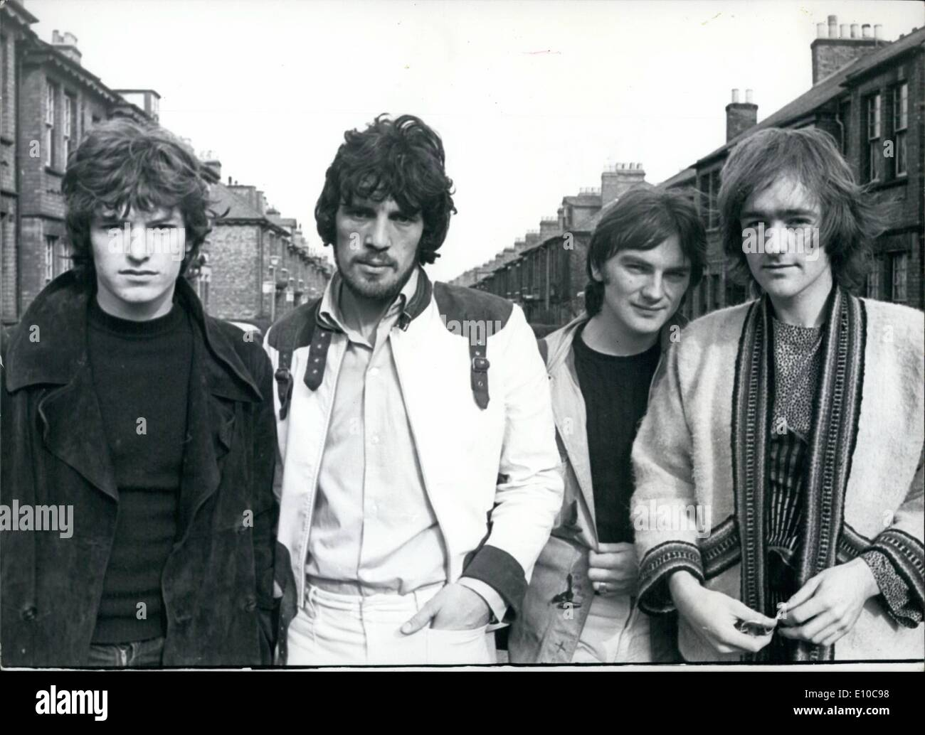 Jun. 06, 1972 - Group Picture: Left to right, Stevie Winwood, Jim Capandi, Chris Wood, David Mason.  Pi - Stock Image