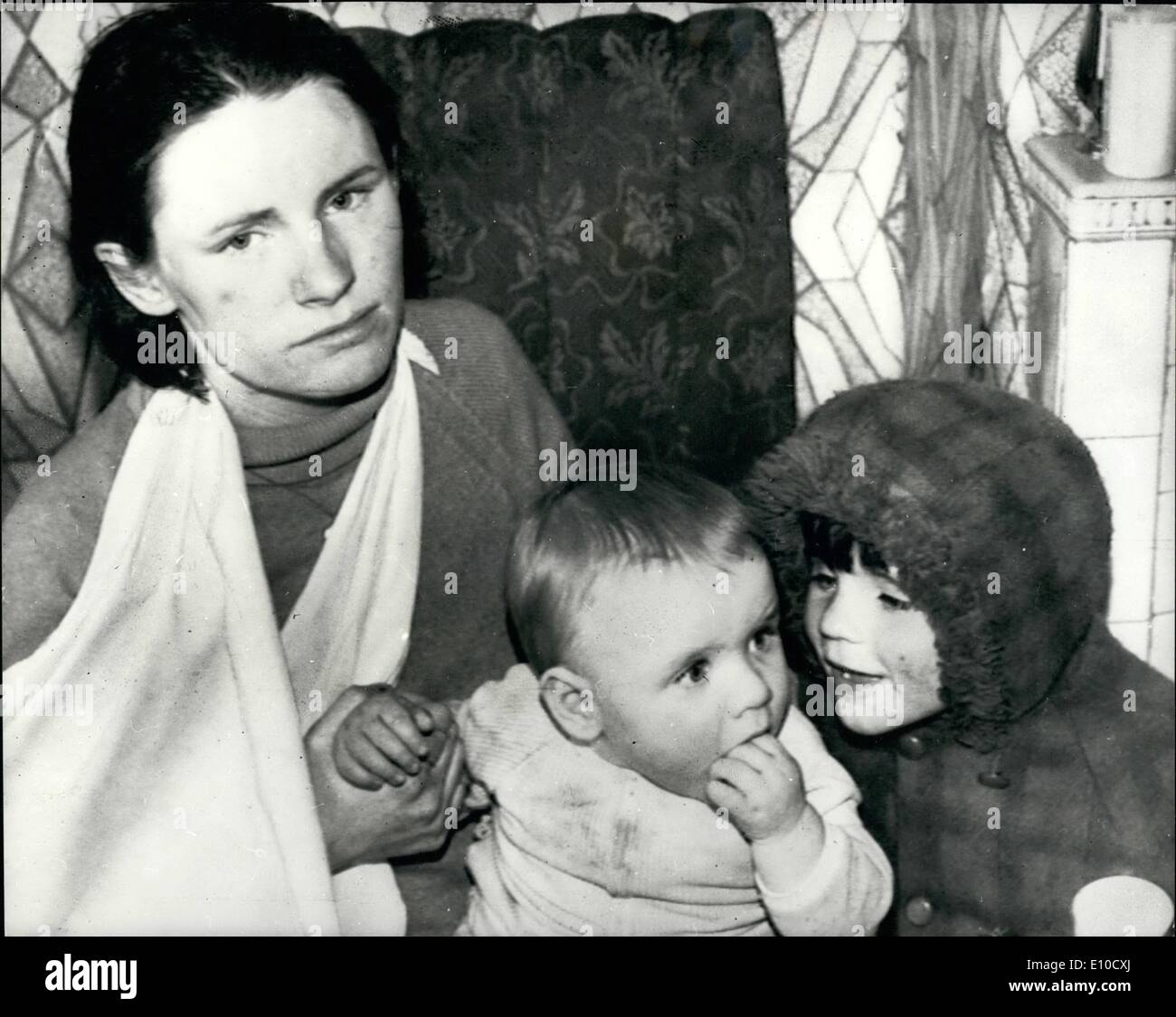 Apr. 04, 1972 - IRA TELL MOTHER-TO-BE TO GET OUT OR HOUSE WILL BE BURNED. MRS. PHILOMENA McGUCKEN, 24, the pregnant Belfast housewife beaten by a masked gang, said yesterday that the Provisional IRA have told her that her two-storey council house will be burned and her children attacked unless she leaves the area in 48 hours. Six men and two women, some of them armed, dragged Mrs McGucken from her home in Springhill Avenue. She was roped to a lamp-post, beaten with hurley sticks - like hockey sticks - and branded with red point and feathers. PHOTO SHOWS: MRS - Stock Image