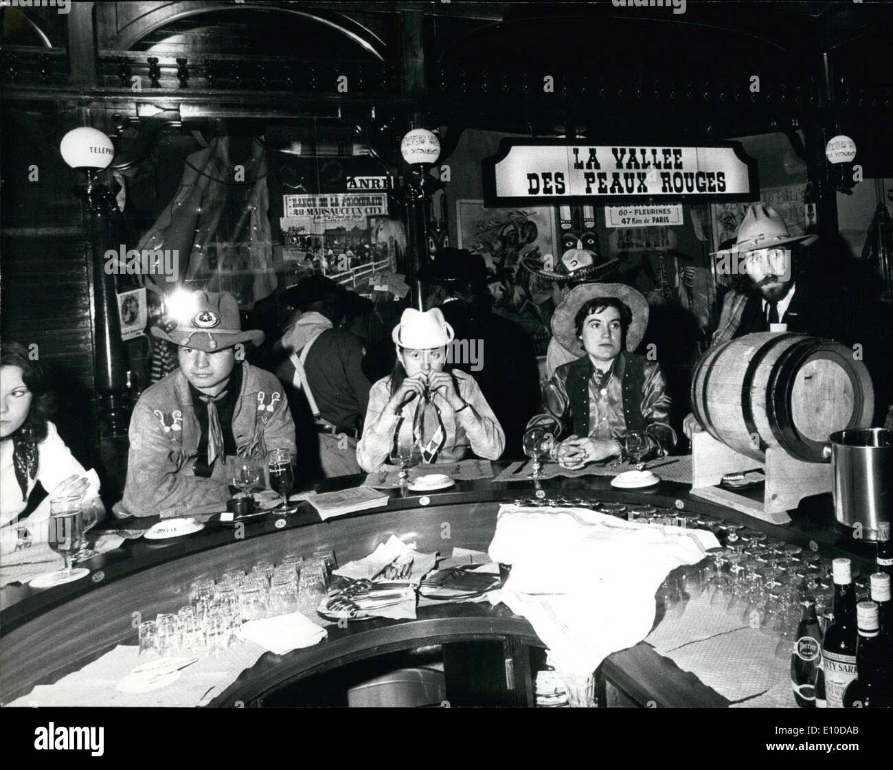 Apr. 18, 1972 - Frenchie's Saloon in Paris - Stock Image