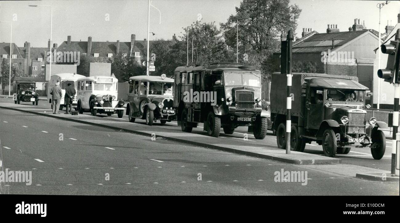 May 05, 1972 - Historic Commercial Vehicle Club Run From London To Brighton: About 180 vehicle took part in this Stock Photo