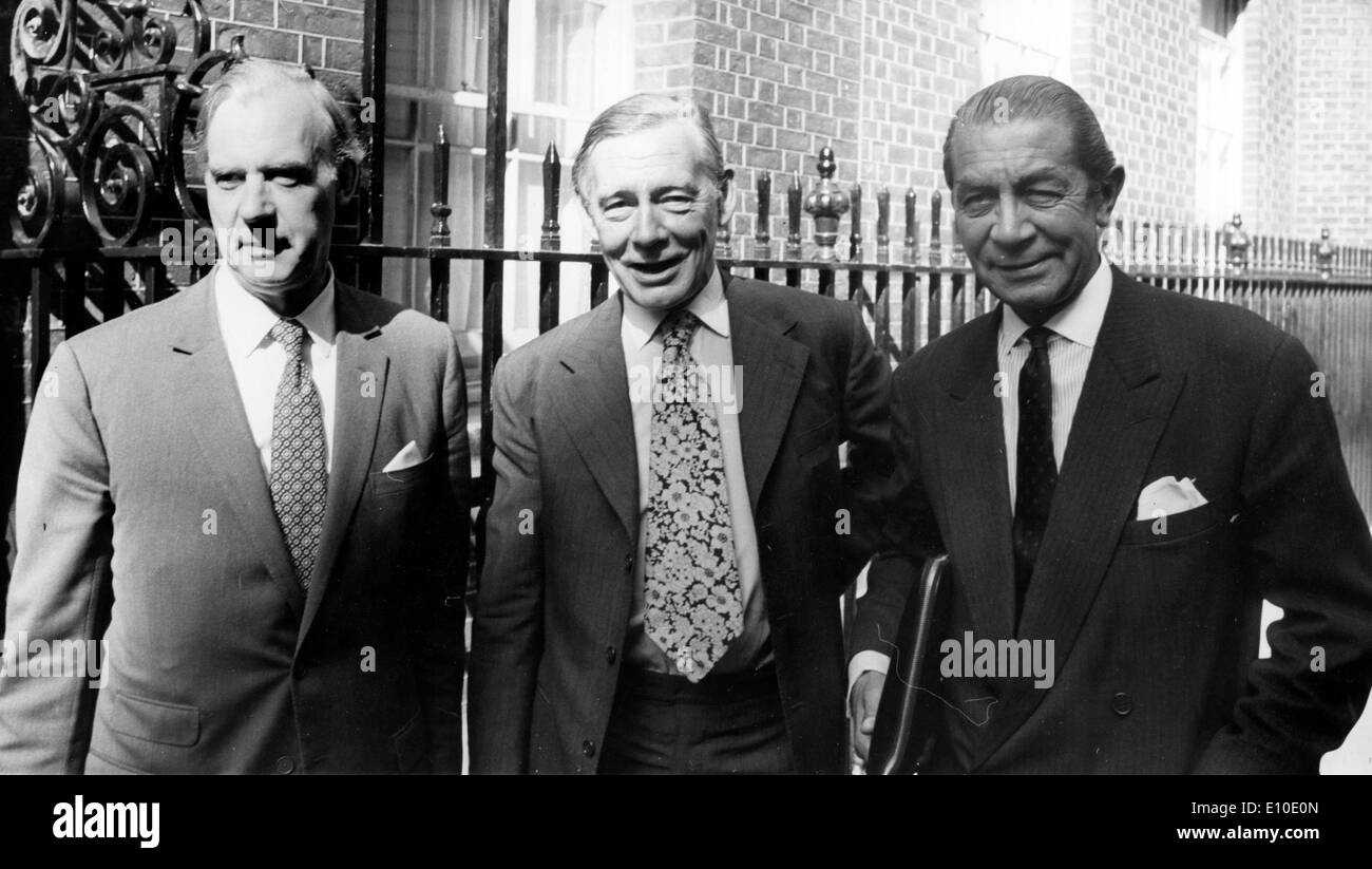 Aug 07, 1972 - London, England, UK - (File Photo) Confederation of British Industry (CBI) representitives, from left, CAMPBELL - Stock Image