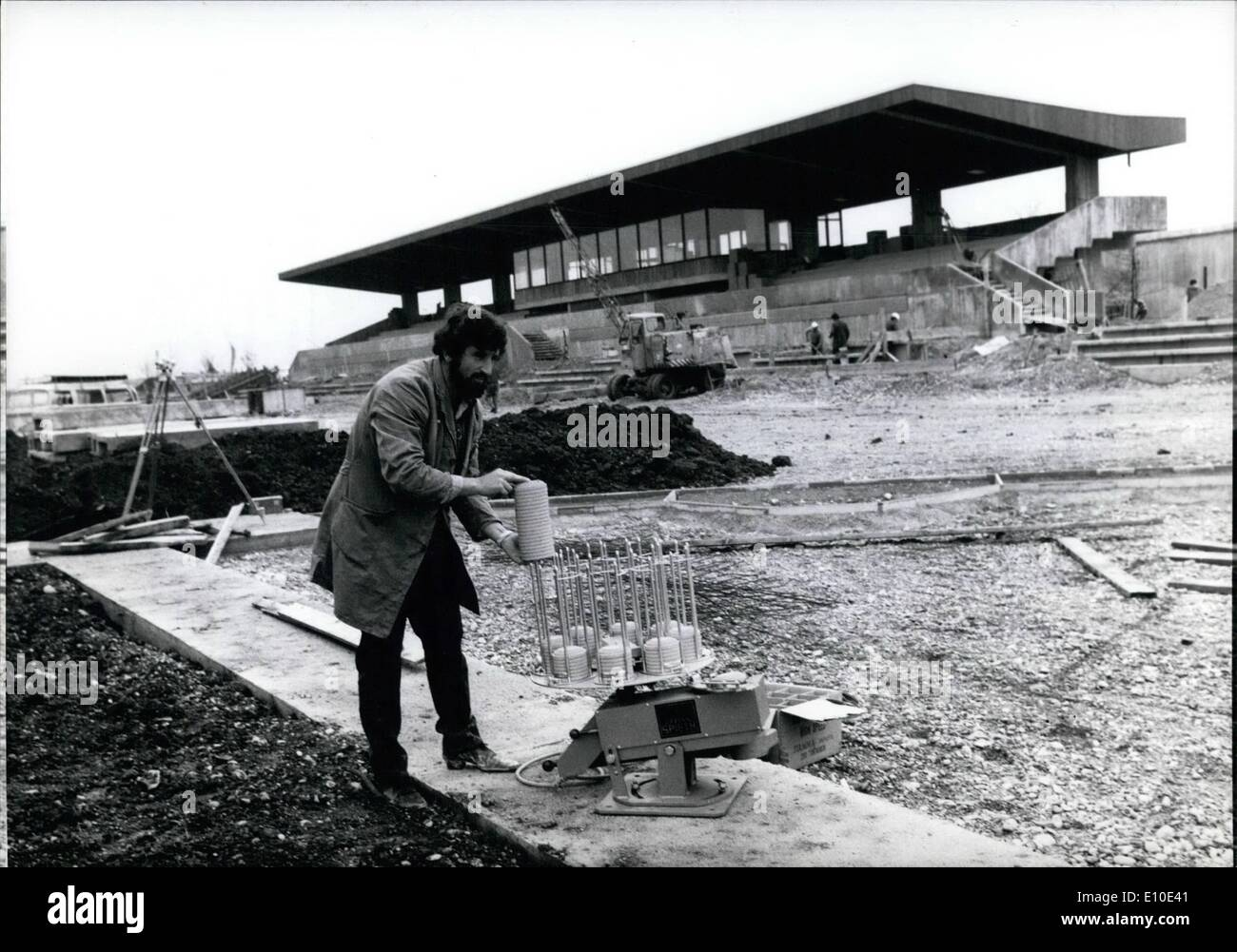May 05, 1972 - Shooting-range on Munich's Olympia-ground is nearly finish: Around 80,000 shoots will be fired by Stock Photo
