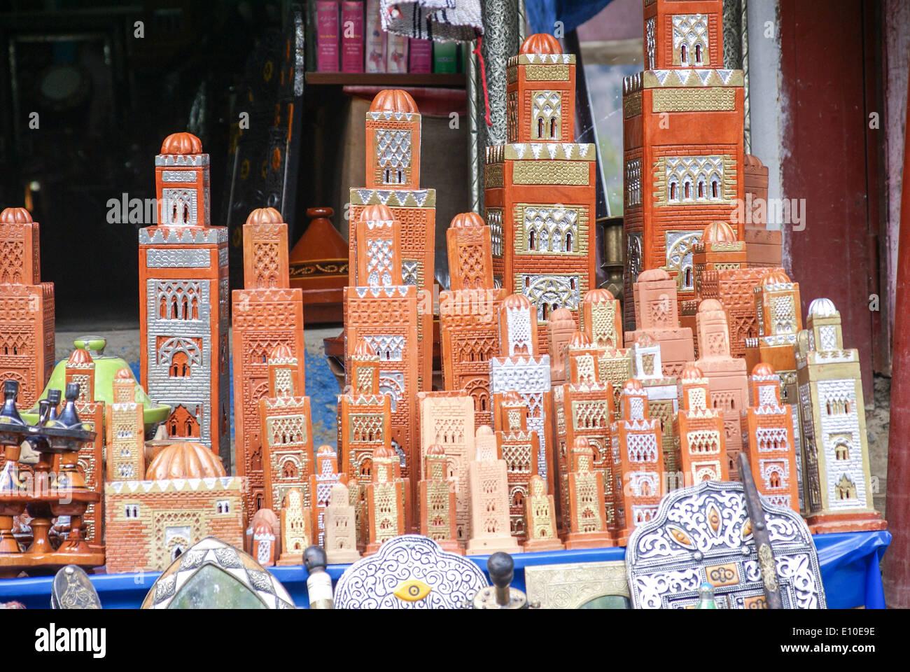 Souvenir shop in the Ourika Valley, Morocco - Stock Image