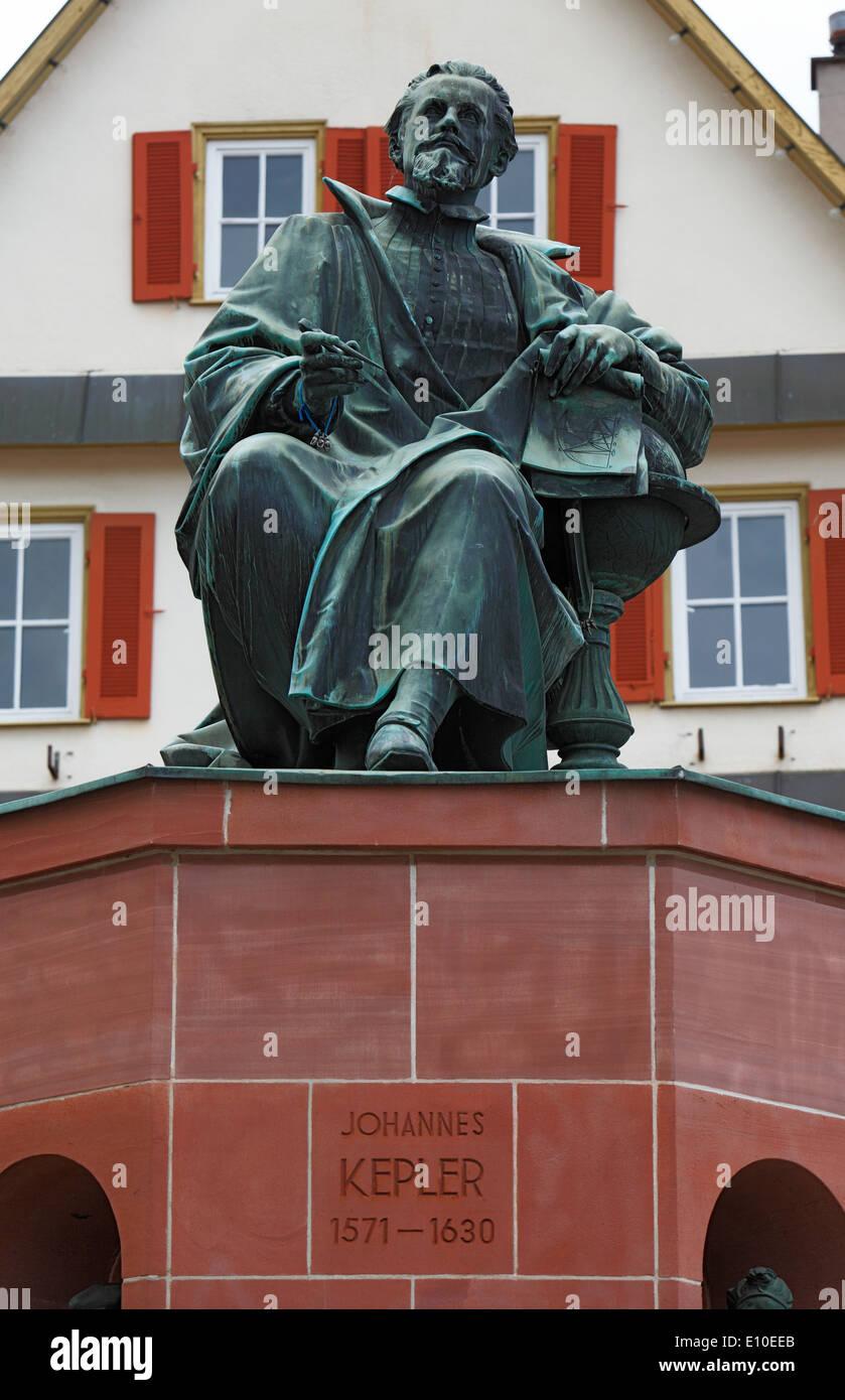 Kepler-Denkmal, Johannes Kepler, Astronom, Mathematiker, Naturphilosoph, Astrologe, Optiker, Theologe, Weil der Stadt, Heckengaeu, Baden-Wuerttemberg - Stock Image