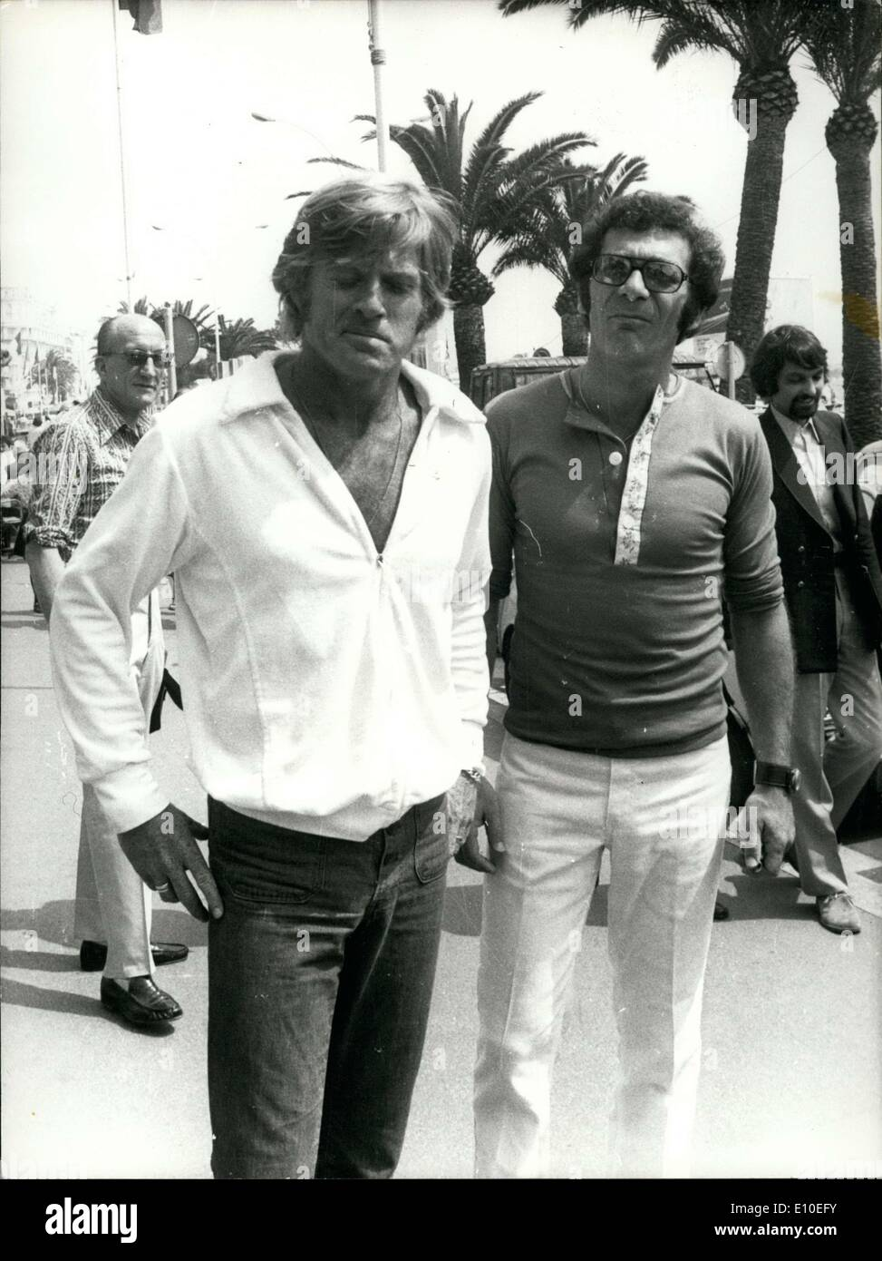 May 09, 1972 - Robert Redford and Sydney Pollack at Cannes Film Festival - Stock Image