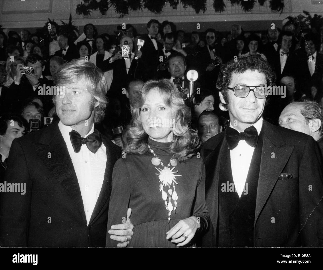 Actor Robert Redford, his wife Lola and Sydney Pollack - Stock Image