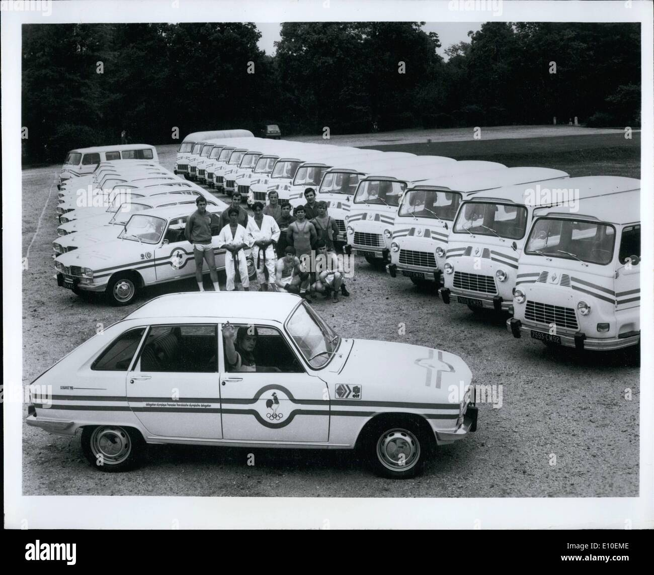 Aug. 08, 1972 - Renault chosen for the Olympics?: Hardly, since motor sport is not included in the Olympic schedule. - Stock Image