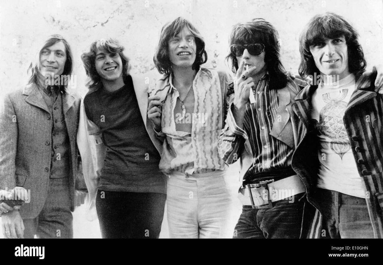 Portrait of the band the Rolling Stones - Stock Image