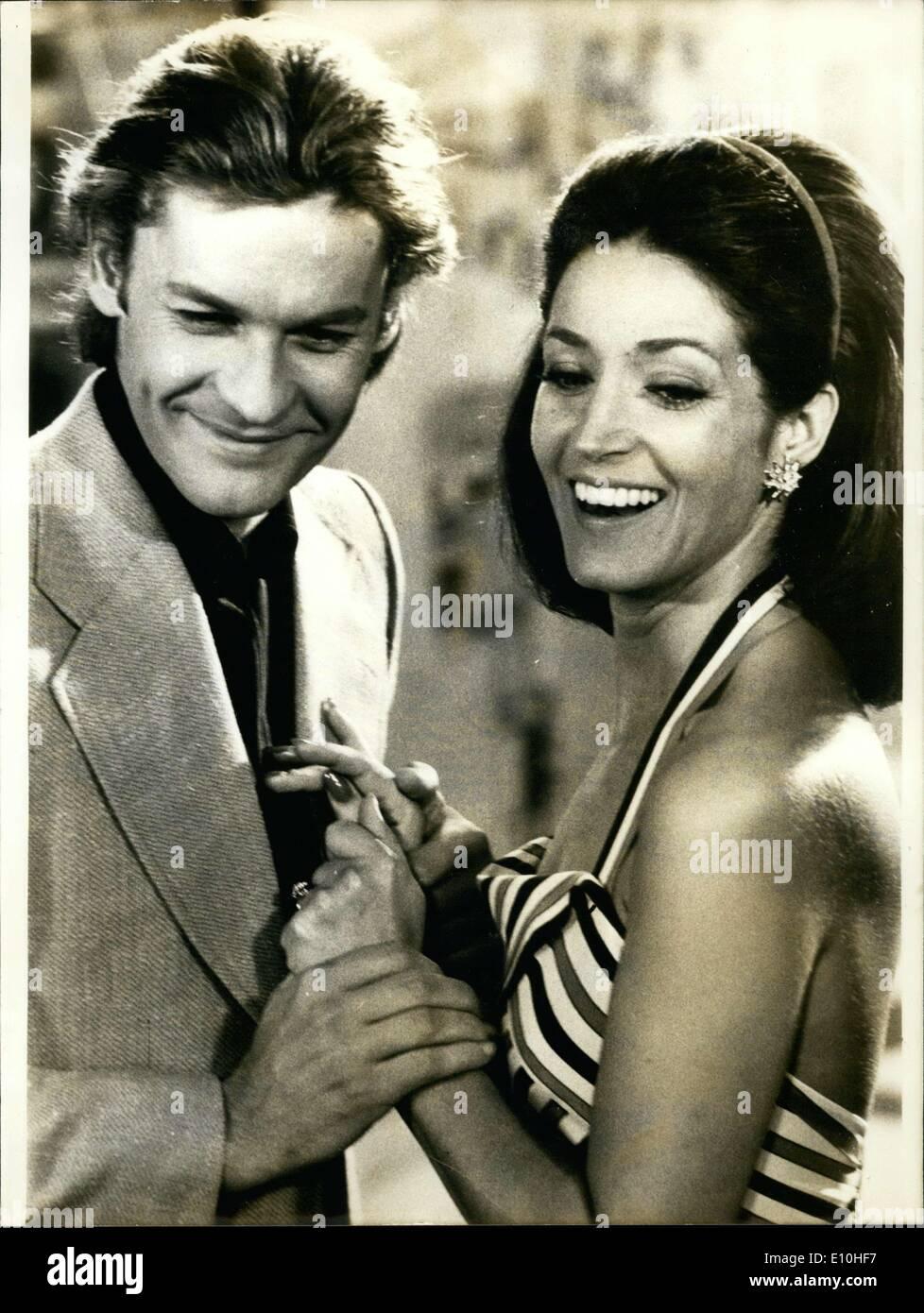 Nov. 13, 1972 - Helmut Berger and Francoise Fabian in ''Les Voraces' - Stock Image