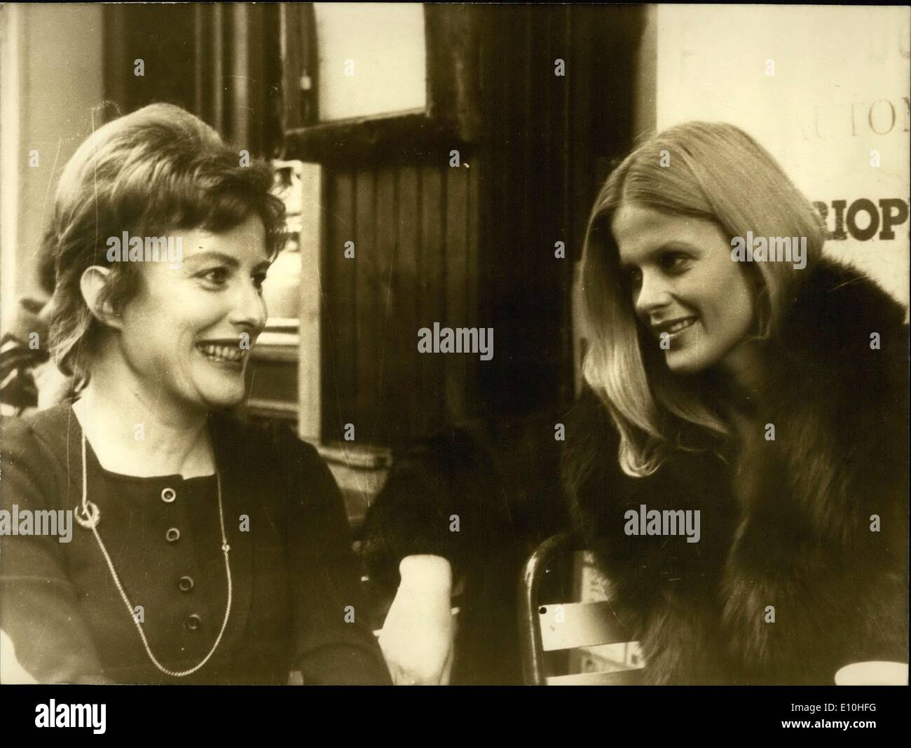 Nov. 14, 1972 - Actress Karin Schubert Speaking with Author Xaviere - Stock Image