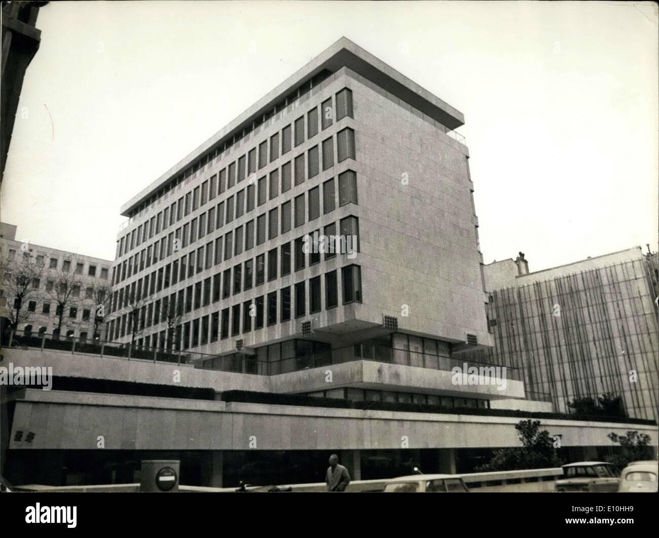 Nov. 29, 1972 - Rothschild Bank Paris Rue Lafitte - Stock Image