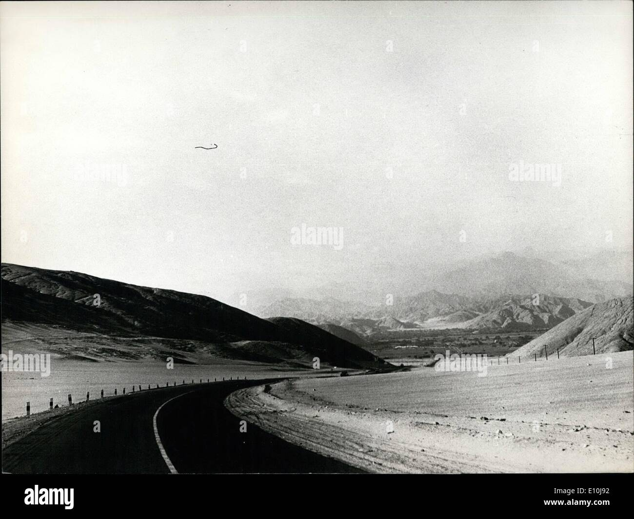 Dec. 12, 1972 - The Panamericana crosses entire South America : Lima Peru The panameriana highway crosses all of south America, - Stock Image