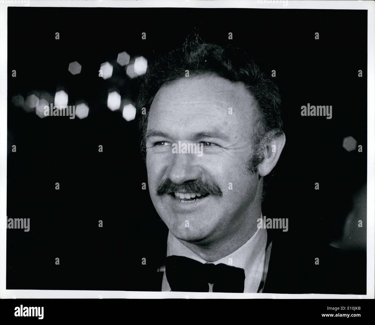 Mar. 03, 1973 - Gene Hackman Academy Awards March 1973 - Stock Image