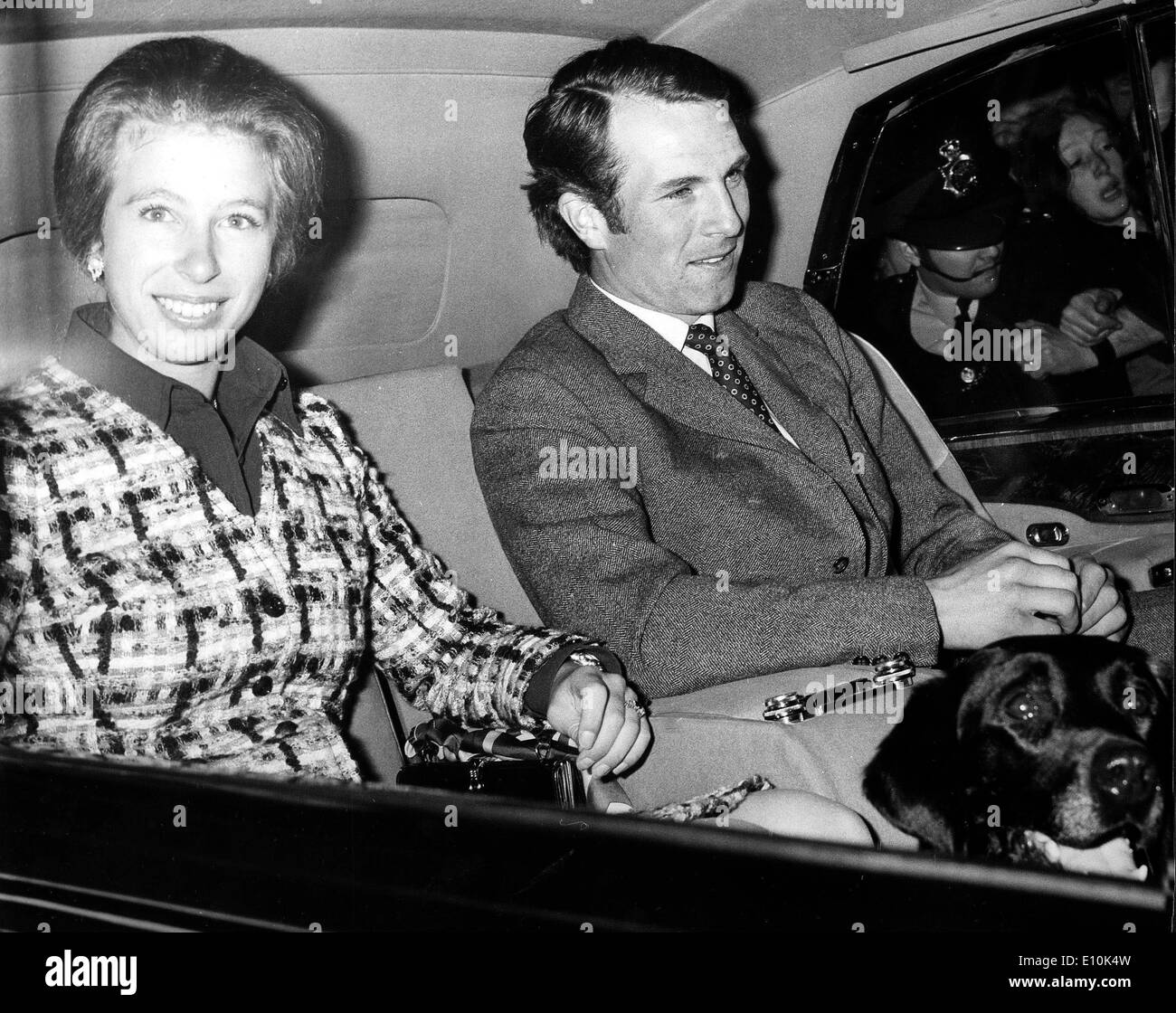 Princess Anne and husband Mark Phillips - Stock Image