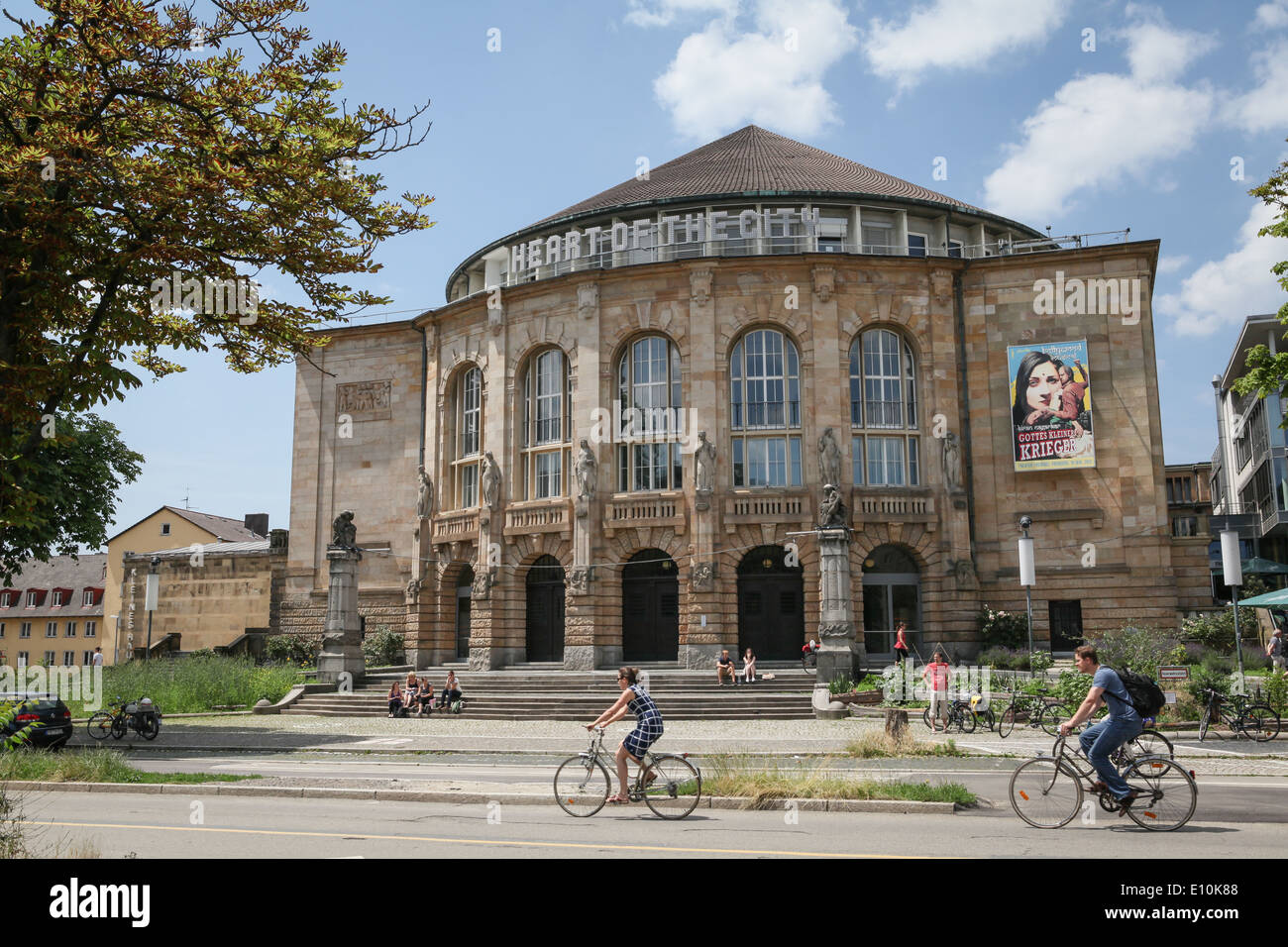Freiburg Theater situated in the center of Freiburg im Breisgau, a city in the south-western part of Germany. - Stock Image