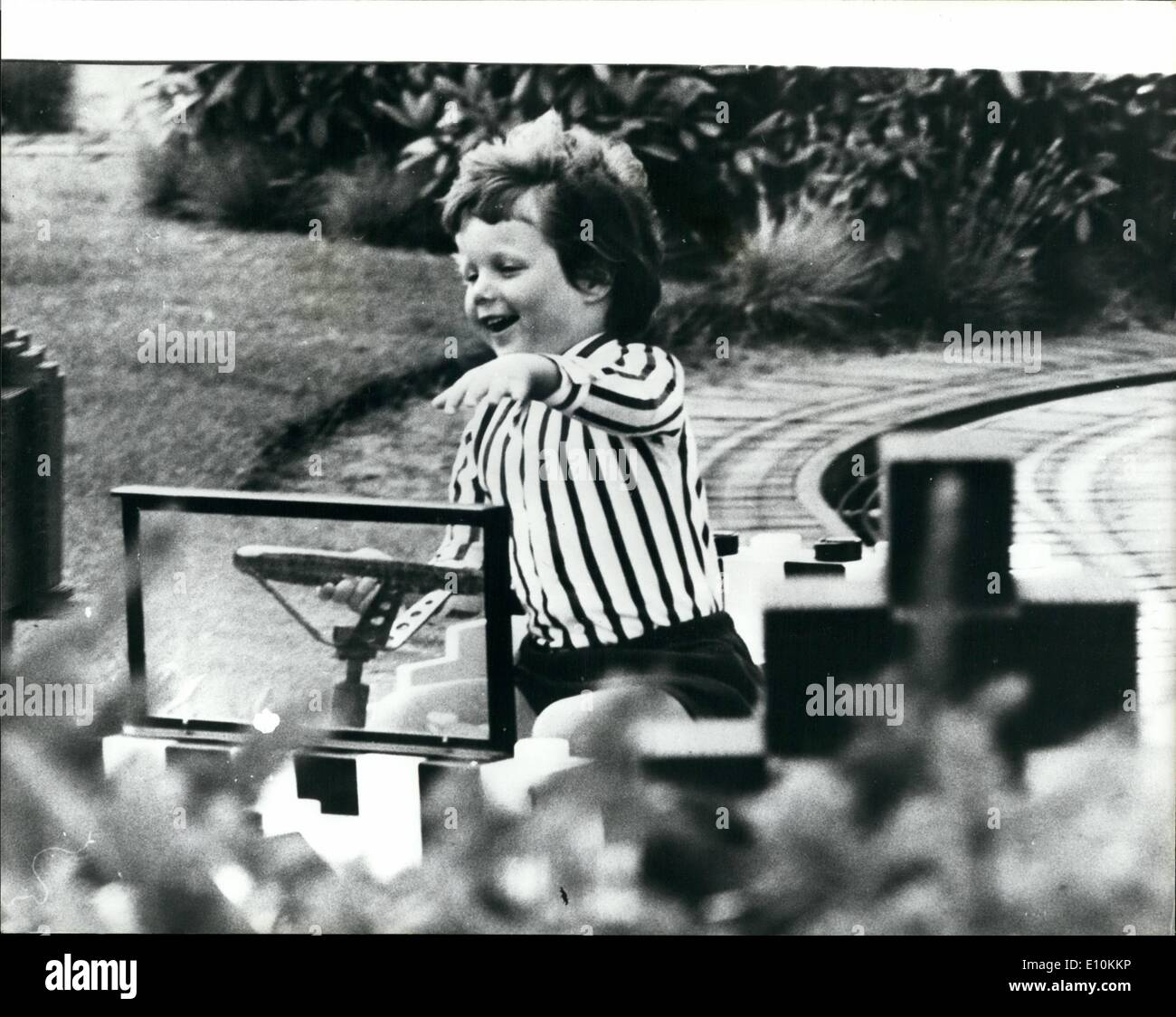 Jul. 07, 1973 - Queen Ingrid and Princess Benedikte of Denmark recently went along to the Lego - Land amusement park in Jutland - Stock Image