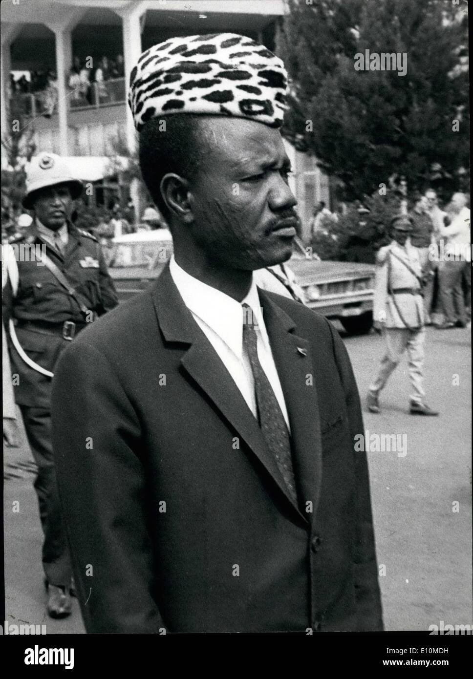 Jun. 06, 1973 - Francois Tombalbaye, President of Chad. Born 1918. Elected to Territorial Council, 1952. Prime Minister, 1959. President of the Council of State, 1960. President of the Republic, 1962. Credits: Camerapix - Stock Image