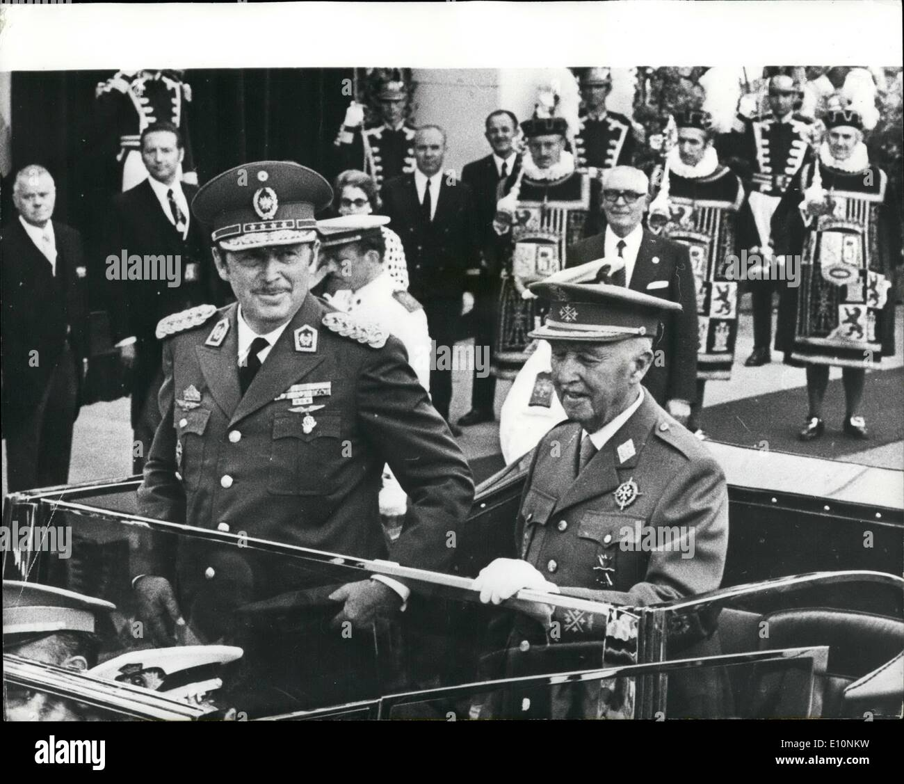 jul 07 1973 president of paraguay in madrid photo shows mr