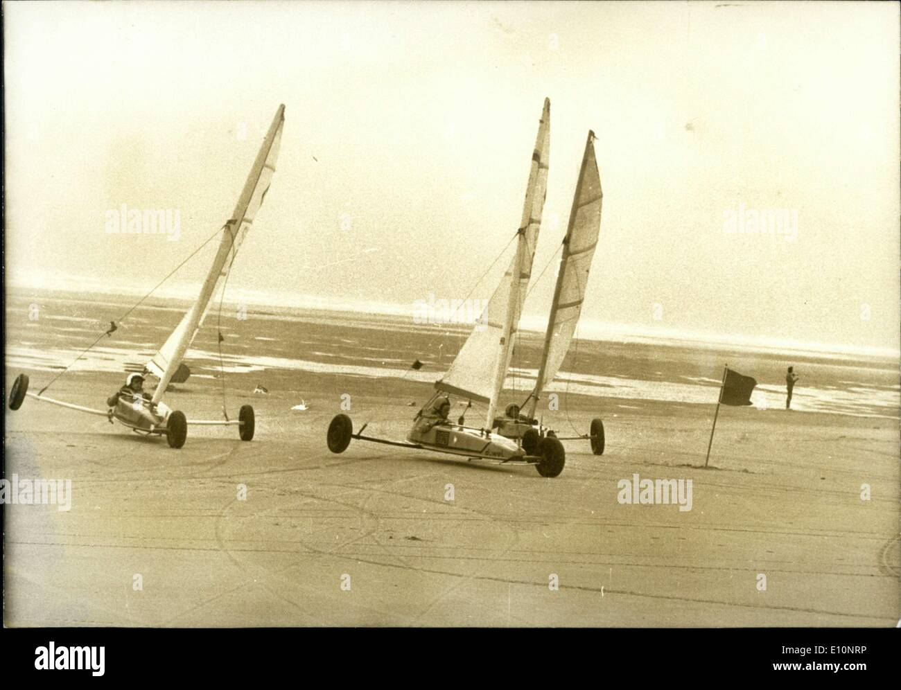 Sep. 03, 1973 - Sand yachting race at course for class III - Stock Image