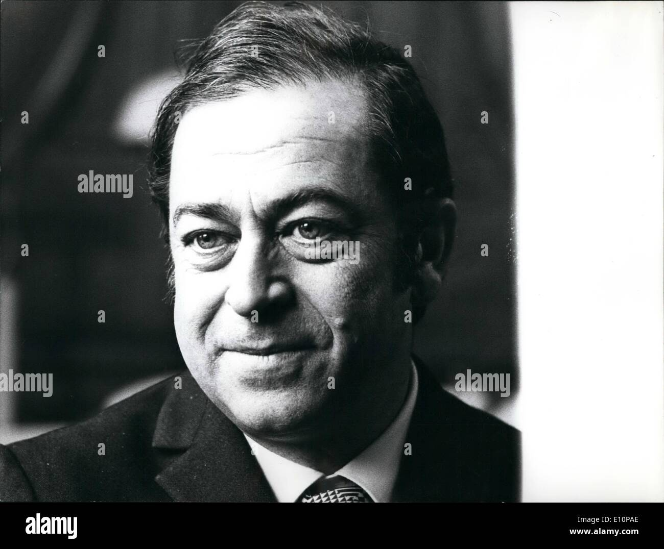 Nov. 11, 1973 - Election of New Swiss Ministers Ops: Designated candidate for the succession of Roger Bonvin, Enrico /cil Franzoni, president of National Council. - Stock Image
