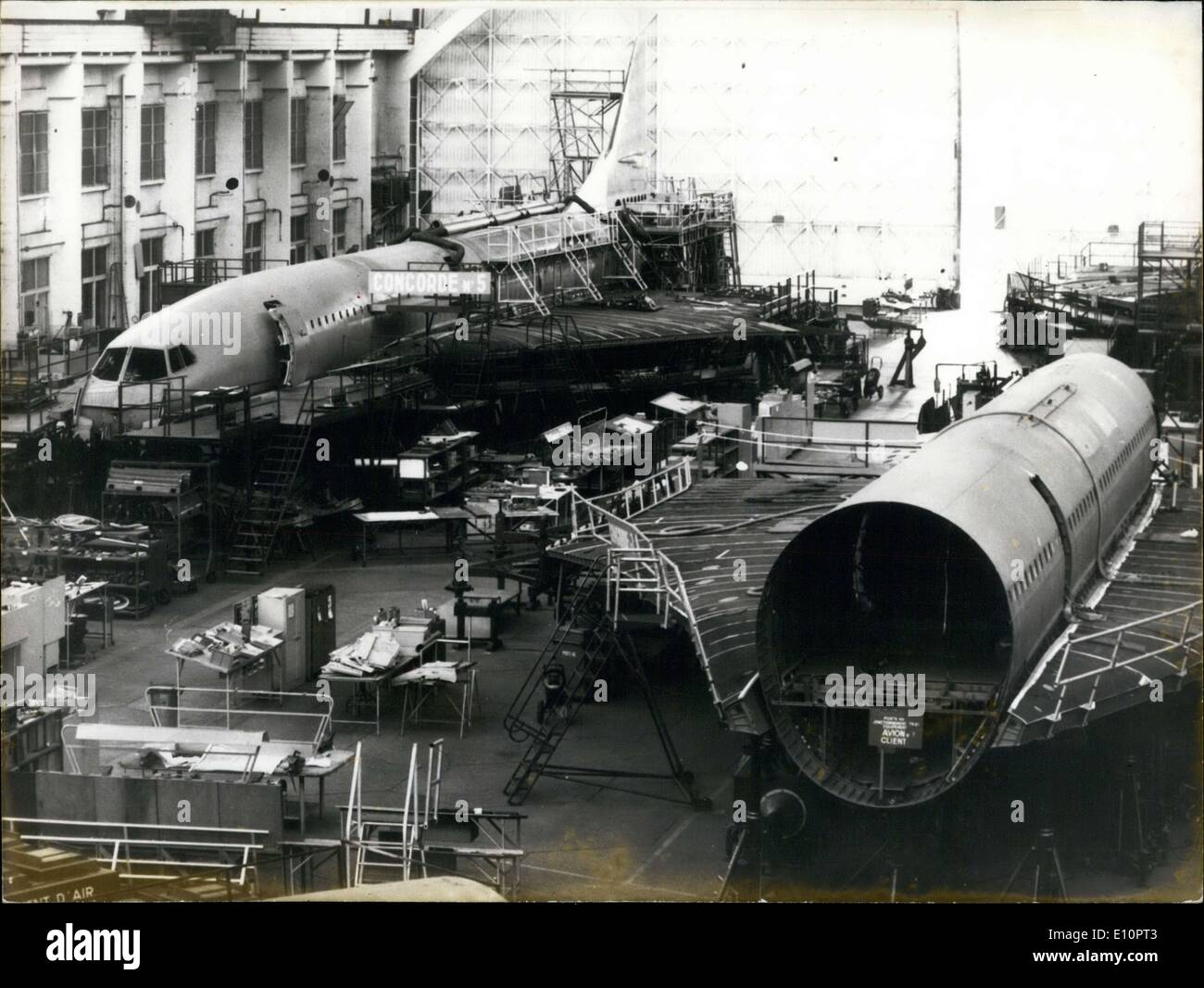 Nov. 28, 1973 - Building the ''Concord No.7'' Plane - Stock Image